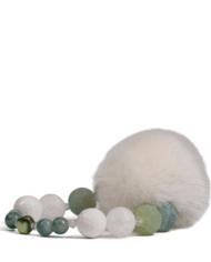 danish-fur-design-smykker-armbånd-00105-white-green-19cm