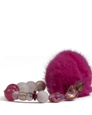 danish-fur-design-smykker-armbånd-00109-pink-19cm